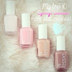 My top 10 mani/pedi combo's for the season! Some seriously gorgeous colours in there!