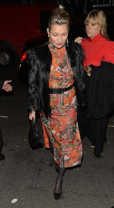Kate Moss's evening street style in London.