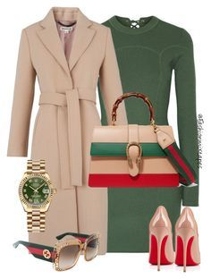 It's Gucci Time by fashionmixtapes on Polyvore featuring polyvore fashion style 3.1 Phillip Lim Whistles Christian Louboutin Gucci Rolex clothing