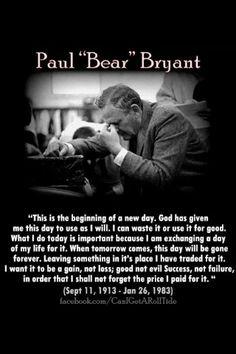 R.I.P Paul Bear Bryant