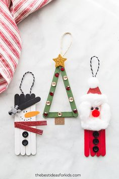 Popsicle Stick Christmas Crafts – a simple Christmas craft for kids … - Crafts for Kids Popsicle Stick Christmas Crafts, Kids Christmas Ornaments, Christmas Crafts For Kids, Xmas Crafts, Craft Stick Crafts, Christmas Diy, Diy And Crafts, Popsicle Sticks, Lolly Stick Craft