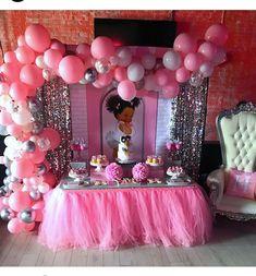 Baby girl puff puff pink baby shower ideas: girls in 2019 во Idee Baby Shower, Baby Girl Shower Themes, Baby Shower Princess, Baby Shower Gender Reveal, Girl Birthday Themes, Baby Girl Birthday, Baby Party, Baby Shower Parties, Royal Baby Showers