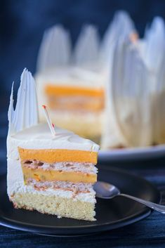 Vanilla Cake, Mousse, Panna Cotta, Mango, Lime, Cookies, Ethnic Recipes, Sweet, Desserts
