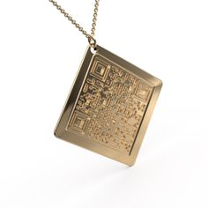 Personalised Jewellery   QR Code Necklace