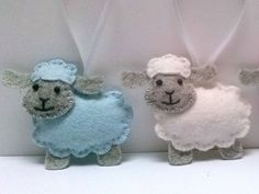 DELIVERY AFTER EASTER Baby blue Easter ornaments by DusiCrafts
