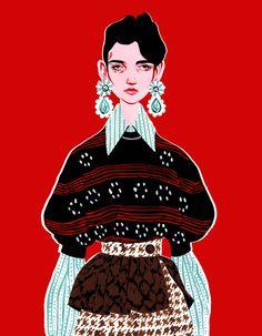 Fashion illustration Bijou Karman