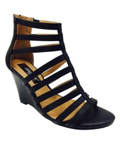 This Black Sindy Wedge Sandal is perfect! #zulilyfinds