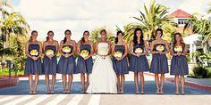 steel gray and yellow wedding - classy
