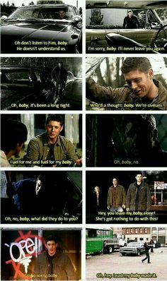 Don't mess with Dean's baby.