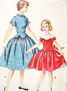 LOVELY Girls Party Dress Pattern SIMPLICITY 1362 Includes Detachable Collar So Cute Kawaii Size 12 Vintage Sewing Pattern-Authentic vintage sewing patterns: This is a fabulous original dress making pattern, not a copy. Because the sewing patter Dress Making Patterns, Vintage Dress Patterns, Vintage Dresses, Vintage Sewing, Vintage Embroidery, Clothes Patterns, Dresses Kids Girl, Girls Party Dress, Trendy Dresses