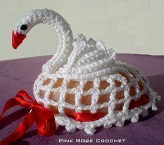 PINK ROSE CROCHET : Sachê Cisne de Croche croxe tudo o tipo