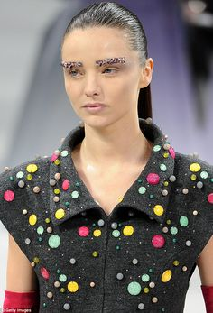 Miranda Kerr...CHANEL....Crystal Eyebrows.....