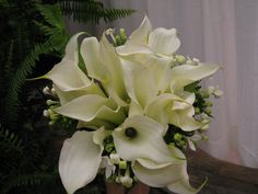 Bridal Bouquet with mini calla lilies | by Designs by Courtney