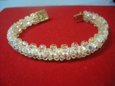 Check out this item in my Etsy shop https://www.etsy.com/listing/175039853/unique-swarovski-bracelet-and-set-of