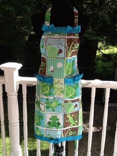Frogs and Lizards Hostess Apron No 57 by MothersApronString