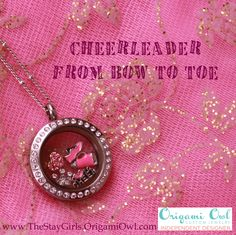 Origami Owl Locket Cheerleader from Bow to Toe!