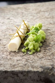 Lovage Parfait With Grass Sand Sorrel Granite From Koks