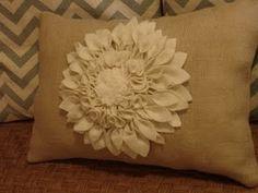floral burlap pillow