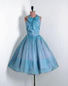 50's blue dress