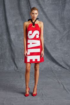 MOSCHINO RESORT 2016 Sale Red Dress