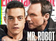 Loving it. Mr Robot. Rami Malek and Christian Slater