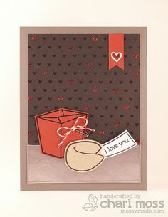 I like the little heart banner in the upper right hand corner -- cute design idea!  GoodFortune by Chari Moss, via Flickr
