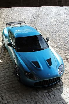 Blue Aston Martin V12 Zagato  For more informations, please visit www.astonmartin-zagato.net