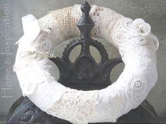 White lace Wreath
