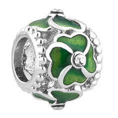 d7bf8b27f Uniqueen Four Leaf Lucky Clover Charm Bead Fits Bracelet: Amazon.co.uk:  Jewellery