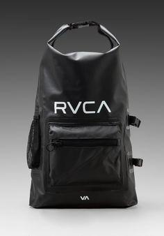 Rvca Gobe Wetdry Backpack in Black in Black for Men
