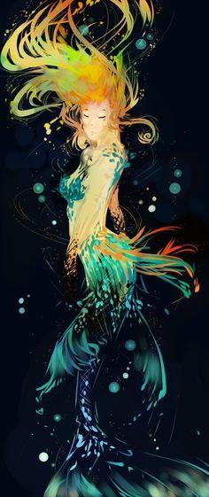 Go to Sirènes / Mermaids / Creature of the ocean / Fantasy art pictures on Facebook
