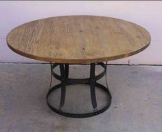 Custom Made Custom Metal and Reclaimed Wood Dining Table by Mortise & Tenon Custom Furniture