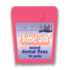 Bubble Gun Flavored Floss - There's nothing greater than a giant, sweet wad of  bubble gun (sugarless of course) popping between your  teeth.  This floss flavor harkens back to a time when   competing to make the largest bubble and then getting   it stuck to your face were the only things you had to worry about.