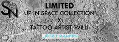 Die neue SELDOM NASTY Space Collection X Tattoo Artist Will ist jetzt verfügbar!  http://www.hirendo.de/de/seldom-nasty-new-collection/