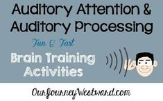 Auditory attention and auditory processing are cognitive skills. Building those skills can be easier than you think - and fun! Auditory Processing Activities, Auditory Learning, Auditory Processing Disorder, Speech Therapy Activities, Cognitive Activities, Kids Learning, Train Activities, Sensory Activities, Sensory Rooms