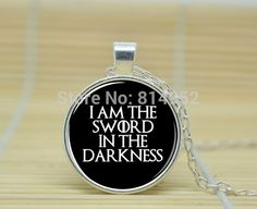 10pcs Game of Thrones Necklace. Night's Watch Oath. I Am The Sword In The Darkness jewelry glass Cabochon Necklace A3006  //Price: $US $9.90 & FREE Shipping //     #gameofthrones #gameofthronestour #gameofthronesfamily  #starks