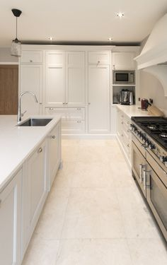 """Enigma Design » Classical Shaker kitchen in """"Strong White"""""""