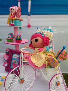 Cute decor at a LalaLoopsy Birthday Party!  See more party ideas at CatchMyParty!