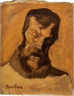 "Hammer price € premium): Albin Egger-Lienz, Head of the farmer in the center of the painting ""Das Tischgebet"". signed on the lower left: Egger Impressionist, Farmer, Modern Art, Artist, Painting, Auction, Artists, Painting Art, Impressionism"