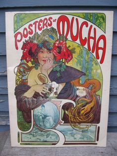 art nouveau book             poster book by Mucha