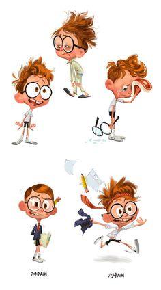 Artes de Tim Lamb para a DreamWorks Character Design Cartoon, Kid Character, Character Design References, Character Drawing, Character Design Inspiration, Character Concept, Concept Art, Art And Illustration, Illustrations