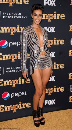 Sparkle and shine! AzMarie Livingston flashed the flesh in a sequin number that put her toned tum on display