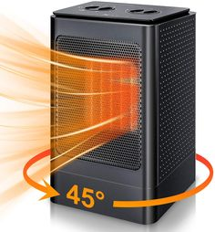Space Heater Electric Portable Heaters - 1500W Ceramic Space Heater for Office Indoor Use Home Bedroom Desk Garage with 6 Modes, PTC Small Oscillating Space Heaters with Thermostat, Over Heat Auto Off Best Space Heater, Portable Space Heater, Bedroom Desk, Home Bedroom, Lighting Inc, Personal Space, Heating Element, Home Office, Garage