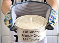 Fat Quarter Friendly Oven Mitt Tutorial