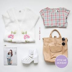Kick off your week as you intend to go on with these perfectly palatable picks for 'Style Me Monday'  We're feeling super feminine in our knitted, checkered combo of pinks and pastels today and there is no reason why you shouldn't to.