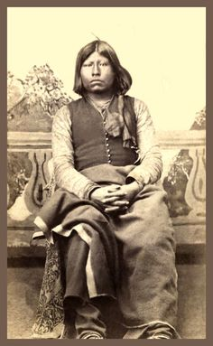 Ton Ka Wa Man Grant Chief Richards Photo Taken At Fort Sill Indian Territory Ca Part Of The Lawrence T