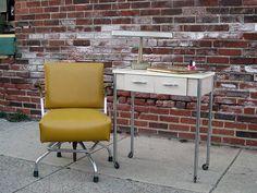 Vintage Manicure Table Industrial Salon by territoryhardgoods, $120.00