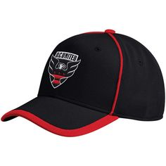 9ee49a9001131 Men s D.C. United adidas Black Cut and Sew Structured Adjustable Hat