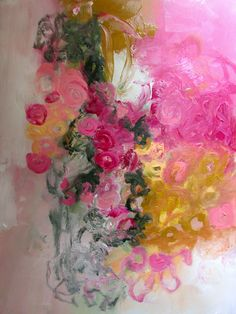 roses on the vine  18 x 24 paper wendy mcwilliams