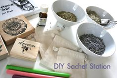 DIY Sachet rosemary, lemongrass and lavender and lavender essential oil. I would also try cinnamon sticks and cloves with orange oil.